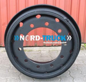 10.00W-20 ET120 Sprengringfelge 10-Loch Michelin 3-teilig (schwarz) leichte Gebrauchsspuren