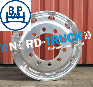 Alufelge 6.75x17.5 BPW Fuchsfelge Eco Wheel ET117, brillant LZ10x225x176 BL:26mm  max Load 3000kg, max 130km/H, made in Germany